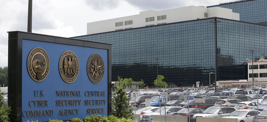 The National Security Administration campus in Fort Meade, Md., where the US Cyber Command is located.