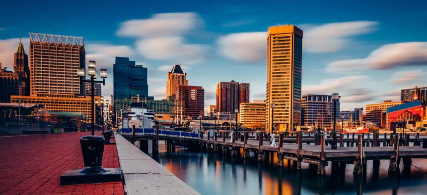 The Baltimore skyline
