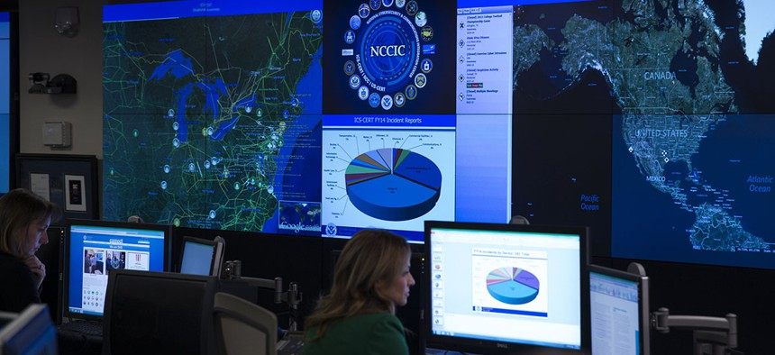A view of the National Cybersecurity and Communications Integration Center in Arlington, Va., Tuesday, Jan. 13, 2015.