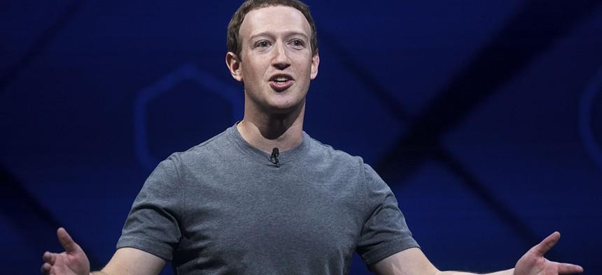 Facebook CEO Mark Zuckerberg speaks at his company's annual F8 developer conference, April 18, 2017.