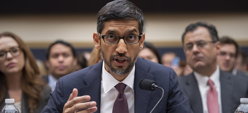 Google CEO Sundar Pichai appears before the House Judiciary Committee.