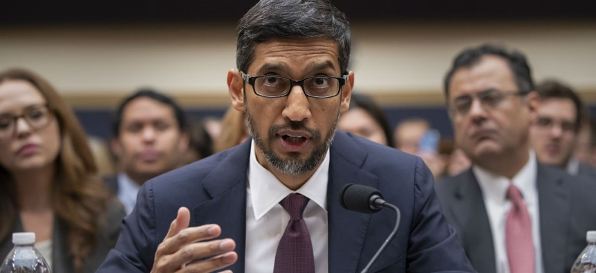 Google CEO Sundar Pichai testifying  before the House Judiciary Committee to be questioned about the internet giant's privacy security and data collection Dec. 11.