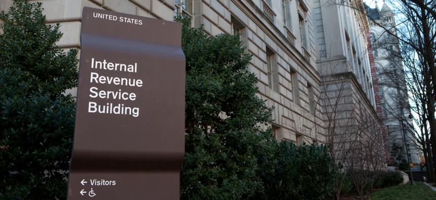 An Internal Revenue Service building in downtown Washington, D.C.