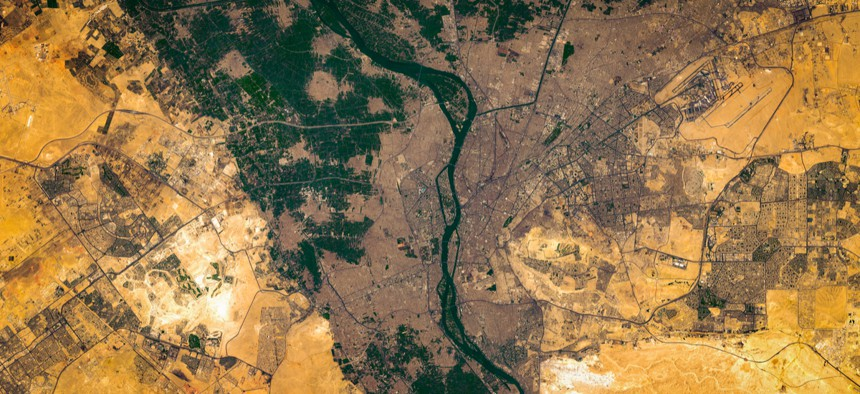 High resolution satellite image of Cairo