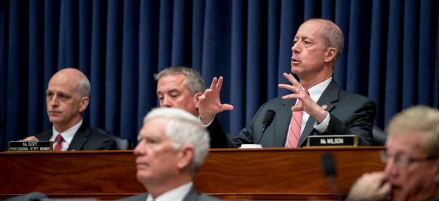 Rep. Mac Thornberry speaks at a recent House Armed Services Committee hearing.