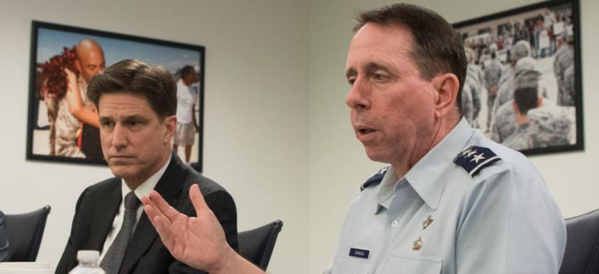 Defense Chief Information Officer Dana Deasy and the Joint Artificial Intelligence Center Director Lt. Gen. John N.T. Shanahan