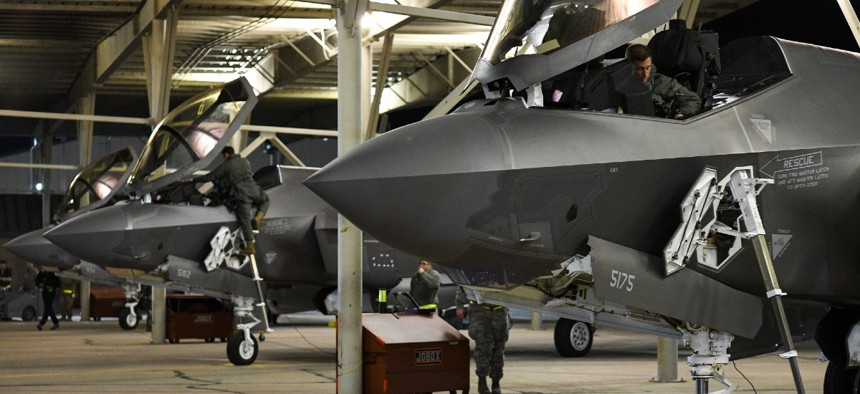 Deploying pilots with the 388th and 419th Fighter Wings prepare for launch at Hill Air Force Base, Utah on Nov. 13.