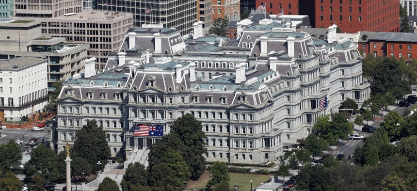 The Eisenhower Executive Office Building on the grounds of the White House Complex