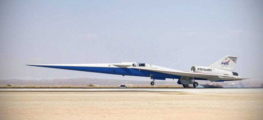 NASA has worked for decades to develop high Mach vehicles and fly faster than the speed of sound, such as the recently tested X-59 QueSS.