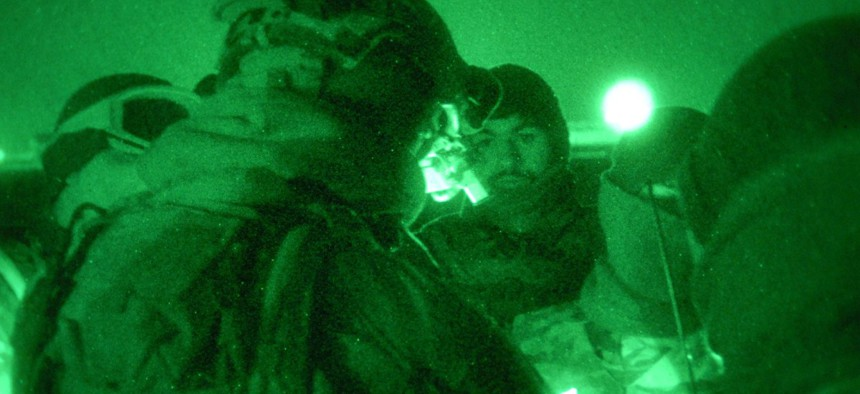 A special operations task force embark on a clearance operation in the Kandahar province of Afghanistan in 2011.