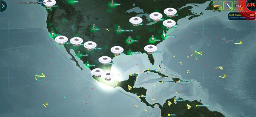 Screenshot of ICBM game by Slitherine Ltd.