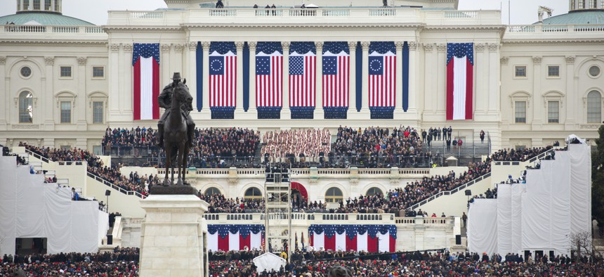 The presidential inauguration of Donald Trump.
