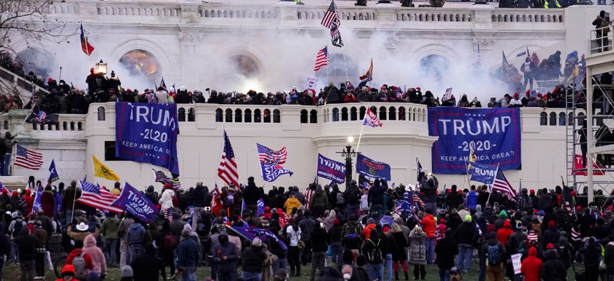Violent protesters storm the Capitol in Washington Jan. 6.