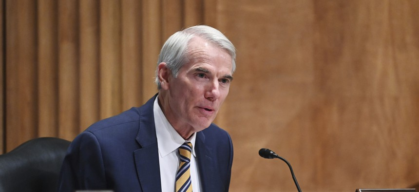 Senate Homeland Security and Governmental Affairs Committee Ranking Member Sen. Rob Portman, R-Ohio, speaks during a Senate Homeland Security and Governmental Affairs Committee on unaccompanied minors at the southern border, Thursday, May 13, 2021, on Capitol Hill in Washington.