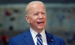 President Joe Biden speaks at Sportrock Climbing Centers, Friday, May 28, 2021, in Alexandria, Va.