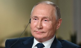 Russian President Vladimir Putin speaks to NBC News journalist Keir Simmons in an interview aired on June 14.
