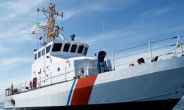 A United States Coast Guard Cutter of the Marine Protector class. This is an 87 'vessel capable of 30+ knots and it is used for law enforcement, and search and rescue operations.
