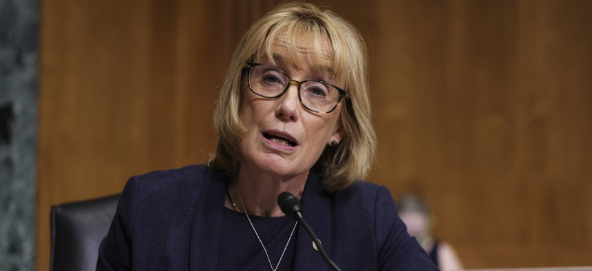 Sen. Maggie Hassan, D-N.H., speaks during a Senate Finance Committee hearing on the IRS budget request on Capitol Hill in Washington, Tuesday, June 8, 2021.