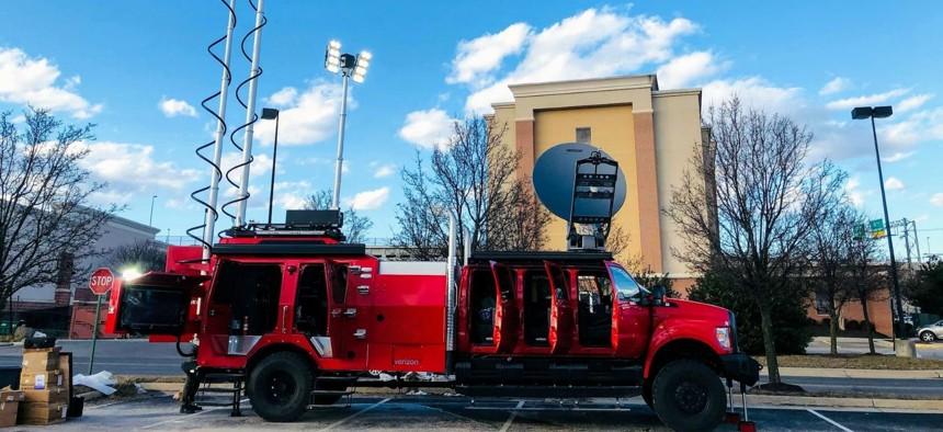 Verizon's Tactical Humanitarian Operations Response vehicle.