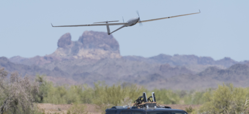 The K1000 ULE drone conducting flight tests from Kraus Hamdani Aerospace,