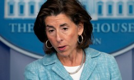 Commerce Secretary Gina Raimondo speaks during a press briefing in the White House July 22.