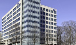Tysons Corner, Virginia, USA- March 1, 2020: SAIC office building in Tysons Corner, Virginia, USA, an American company provides government services and information technology support.