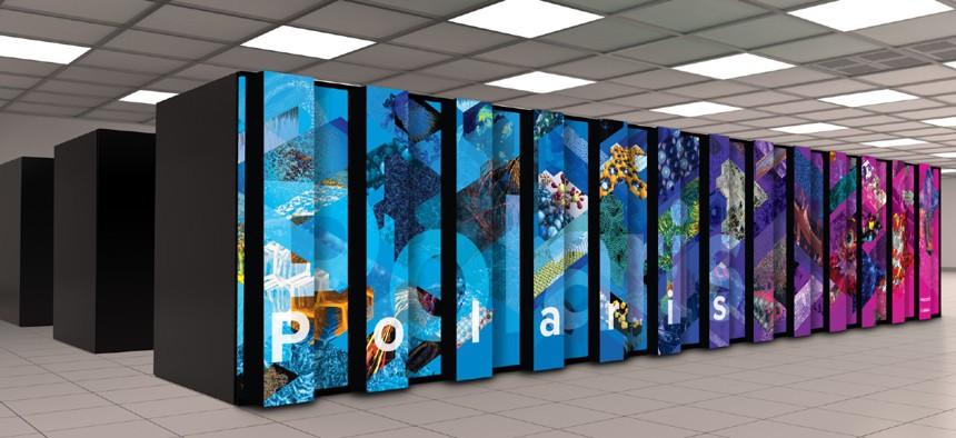 An artist's rendering of the Polaris supercomputer.