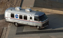 NASA's Astrovan in action at at 2011 launch.