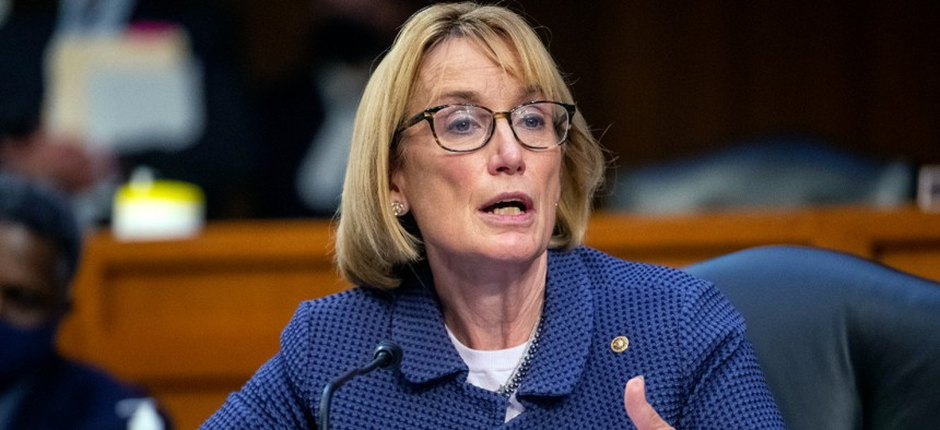 """Sen. Maggie Hassan, D-N.H., is one of the lawmakers who introduced a measure to  """"hold lawmakers accountable by requiring them to stay in Washington until they reach an agreement."""""""
