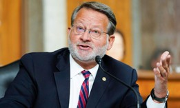 Sen. Gary Peters., D-Mich., speaks during a Senate Armed Services Committee hearing Sept. 28.