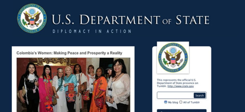 The State Department uses Tumblr.