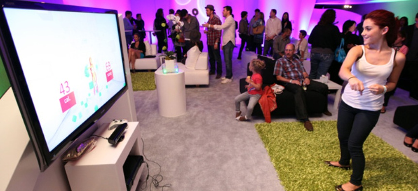 The Xbox Kinect tracks body moment.