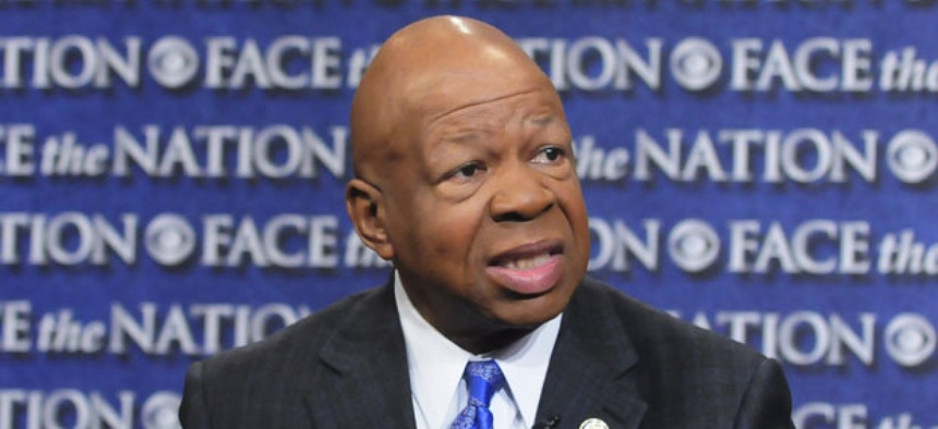 Reps. Elijah Cummings, D-Md., said Thursday that Issa was misapplying the rule because no committee members are on the ballot in the election at issue .