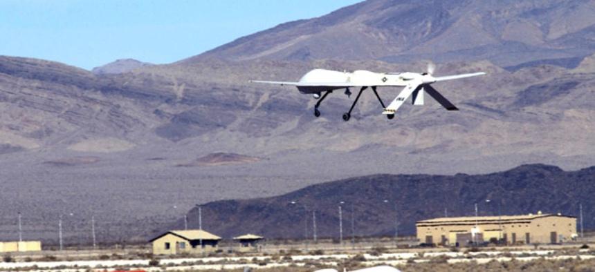 An MQ-1 Predator un, ... ]