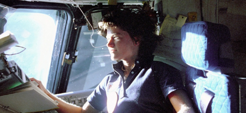 Sally Ride in 1983.