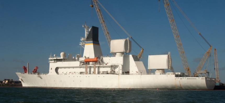 USNS Howard O. Lorenzen is one of the three Missile Range Instrumentation Ships.