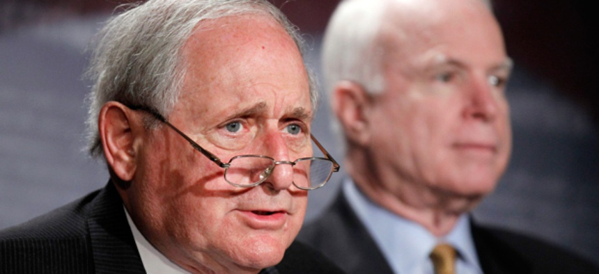 Sen. Carl Levin, D-Mich., left, and Sen. John McCain, R-Ariz.