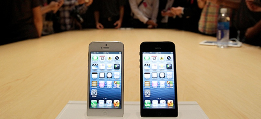 The new iPhone 5 on display
