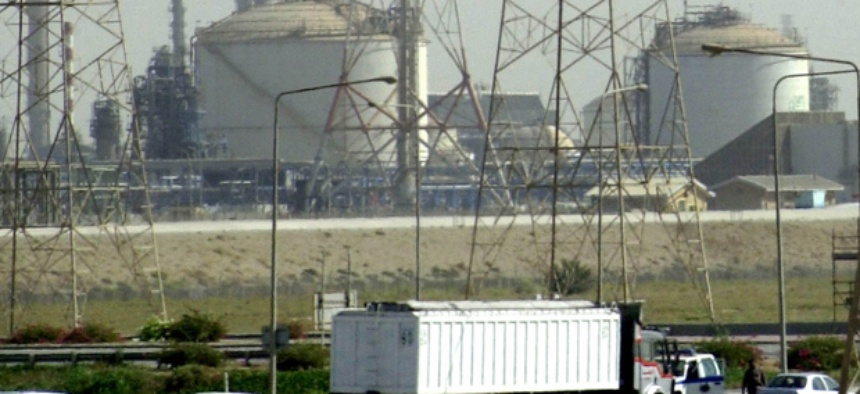 A Saudi Aramco oil refinery in 2004.