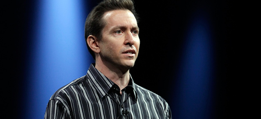 Scott Forstall at the Apple Developers Conference in San Francisco.