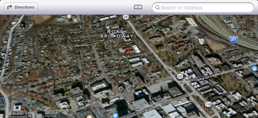 A screen shot of Apple maps