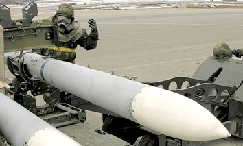 Missiles are prepped for a test in Alaska in 2005.