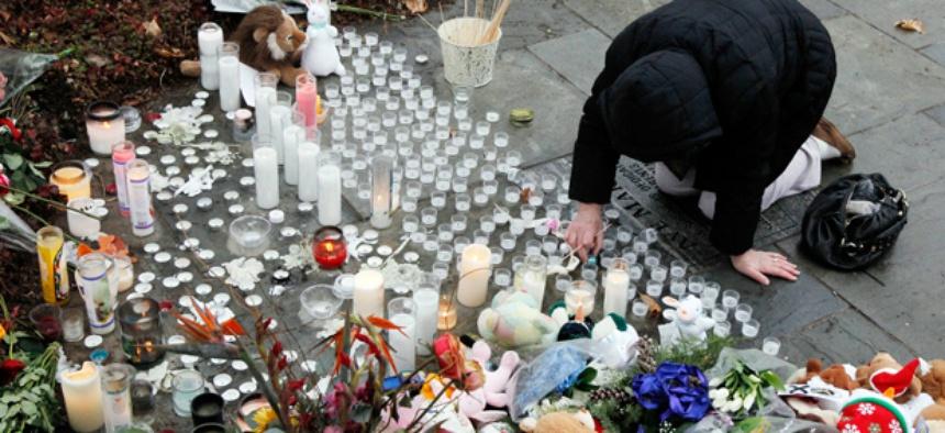 A memorial in Newtown, Conn.