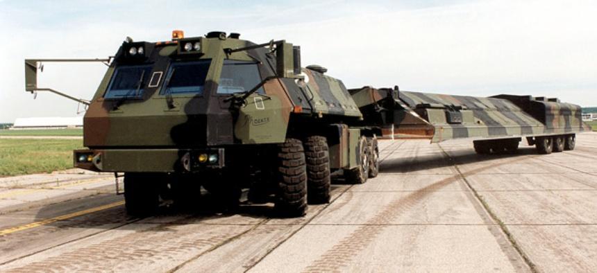 """Mid-80s """"Midgetman"""" mobile missile launcher"""