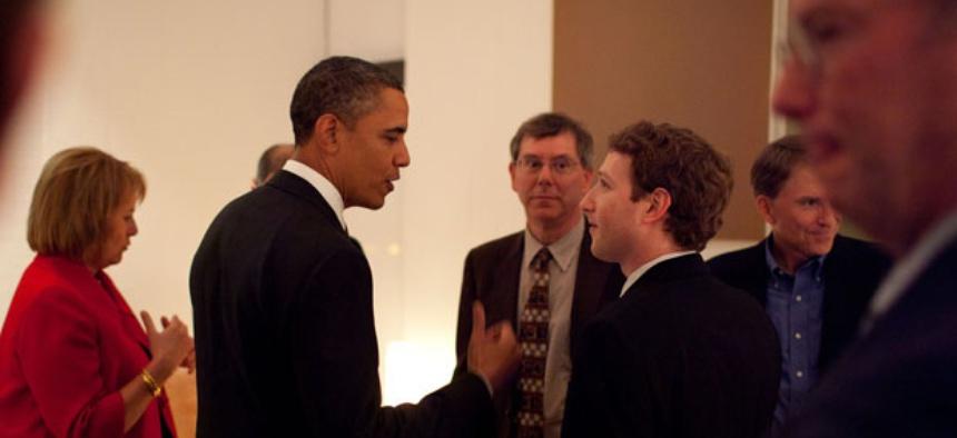 Obama met with tech officials including Facebook's Mark Zuckerberg and Google's Eric Schmidt in 2011.
