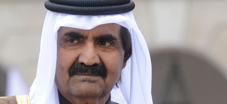 Sheikh Hamad bin Khalifa Al Thani is Emir of Qatar. He may be a target of Syrian hackers.