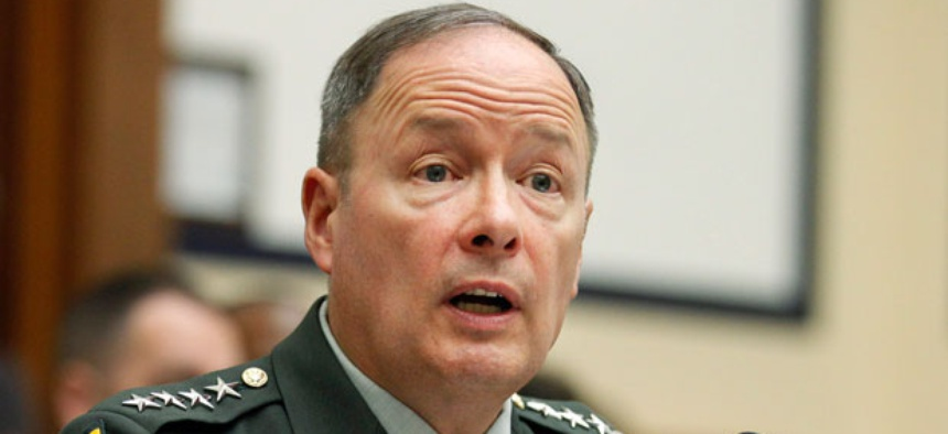 """Gen. Keith Alexander, head of Cyber Command, said the combat mission forces will include 27 teams and would """"support the combatant commands in their planning process for offensive cyber capabilities."""""""