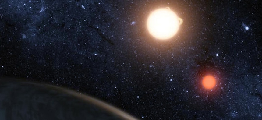An artist's rendering of Kepler-16b