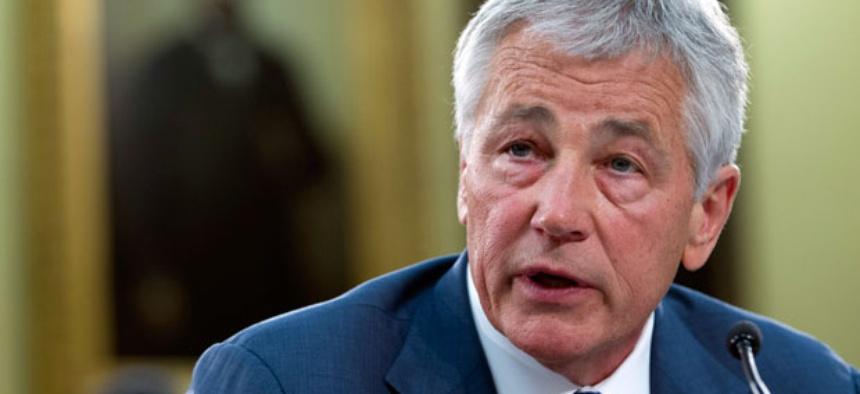 Defense Secretary Chuck Hagel testifies on Capitol Hill.