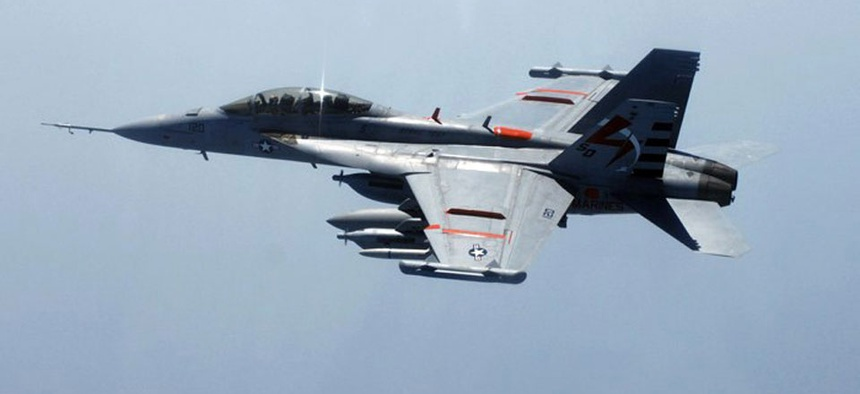 NAVAIR said the new jammer will not be installed on the Navy's fleet of 114 EA-18G Growler electronic warfare aircraft.